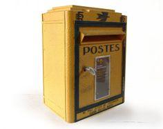 ORIGINAL French POST BOX Mid century Model Loft deco by LaLoupiote, $460.00