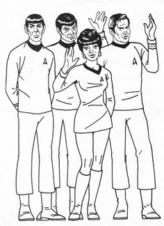 81 Best Lineart Star Trek Images Printable Coloring Pages