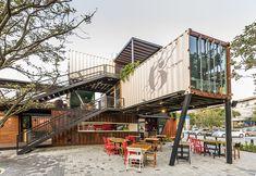 Container Home Idea: ร้านอาหารสุดสวยที่มีโครงสร้างหลักเป็นตู้คอนเทนเนอร...