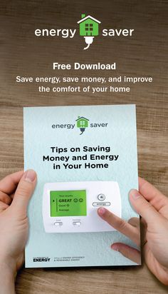 Save energy, save money, and improve the comfort of your home Good Energy, Save Energy, Energy Saver, Renewable Energy, Energy Efficiency, Money Saving Tips, Free Books, Cards Against Humanity, Energy Conservation