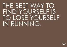 Find yourself through running. #inspiration #motivation