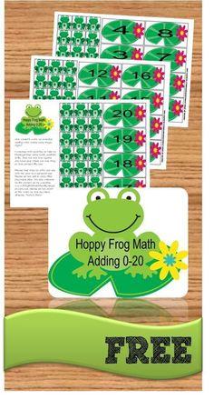 FREE Hoppy Frog Math Game is a fun addition games for help kindergarten, grade, grade practice adding Math Classroom, Kindergarten Math, Teaching Math, Addition Games, Math Addition, Simple Addition, Math Games, Math Activities, Therapy Activities