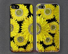 Sun Flowers Floral iPhone 5 case iPhone 5s case by InfinityBlack, $9.99