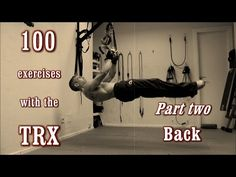 A complete video guide of TRX training! More than 100 exercises! The TRX is one of the most complete training tools. Suspension Workout, Trx Suspension, Suspension Training, Abs Workout Video, Gym Video, Ab Workout At Home, Trx Workout, Workout Days, Fitness Workouts