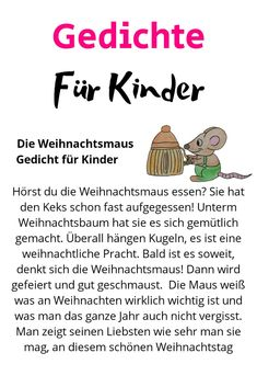 Die Weihnachtsmaus, Scientific Reports, Types Of Cancers, Political Events, In Kindergarten, Baby, Winter Christmas, Poems For Children, Kids Rhymes