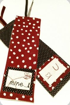 Personalized Fabric Bookmarks | FaveCrafts.com