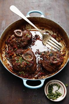 Rick Moonen, chef of RM Seafood in Las Vegas, gave us his mother's recipe for these falling-off-the-bone veal shanks.