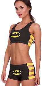 Batman Bra And Shorts Panties Set