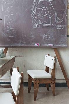 Midcentury -Mobiliario de los años 60 del departamento de diseño. Sargadelos