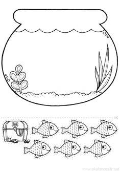 Aquarium Mold- Akvaryum Kalıbı Line Worksheet Animal Crafts For Kids, Summer Crafts For Kids, Art For Kids, Preschool Worksheets, Classroom Activities, Preschool Activities, Baby Crafts, Toddler Crafts, Fish Crafts