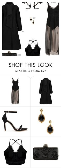 """""""YOINS"""" by s-thinks ❤ liked on Polyvore featuring Miss Selfridge, Mallary Marks, Alexander McQueen, ootd, yoins, yoinscollection and loveyoins"""