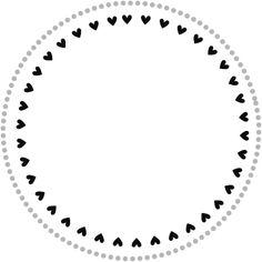 Circle & Hearts border frame Circle Borders, Borders And Frames, Heart Border, Doodle Frames, Posca, Wreath Drawing, Mini Drawings, Heart Template, Baby Clip Art