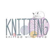 Custom Logo design, knitting logo design, sewing Logo and watermark,colorful logo, cat logo design, yarn logo design, knitting logo