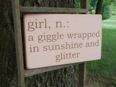 Zoe :) Girl Definition Wood Sign Baby Nursery Baby Shower by primsnposies Baby Shower Signs, Baby Shower Cards, Cricut Baby Shower, Baby Shower Quotes, Shower Baby, Girl Shower, Cute Signs, Diy Signs, Painted Signs