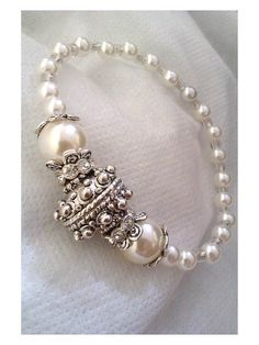 Gorgeous White Bracelet by Euphena on Etsy, £25.00