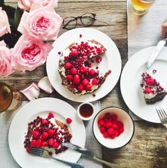 Mimi Ikonn | Sugar, gluten and dairy free pancake cake layered with coconut cream, berries and pomegranate seeds | Healthy & Delicious