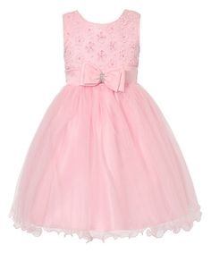 Another great find on #zulily! Pink Flower Overlay Dress - Toddler & Girls #zulilyfinds