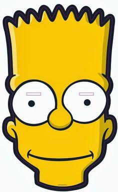 Para Davi. Bart Mask: http://www.dcriativo.com/2014/02/mais-de-120-mascaras-de-carnaval-para-imprimir-e-brincar.html