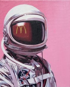 1960's astronauts with pop culture by Scott Listfield