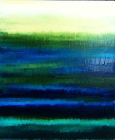 Beach Abstract Painting, Abstract Ocean Art - Oceanic Painting, Ocean Blue, Sapphire Blue, Emerald Green - 20x24x1.5 - Ocean Art. $230.00, via Etsy.