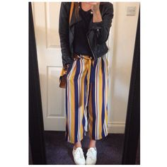 Stripes again! My zara culottes
