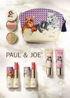PAUL & JOE  2013 Christmas edition cat featured makeup kit ( for crazy cat ladies!! :] )