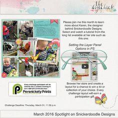 Spotlight on Snickerdoodle Designs: Featured Designer March, 2016