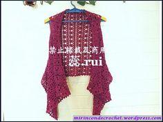 Paso a Paso « Mi Rincon de Crochet. Step by step pictorial tut Bonnet Crochet, Crochet Coat, Crochet Cardigan Pattern, Crochet Jacket, Vest Pattern, Crochet Blouse, Crochet Shawl, Crochet Yarn, Crochet Clothes