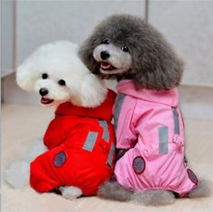 AOBILE(TM)Pet Dog Raincoat Hoodie Hooded Waterproof Jacket Pet Clothes Clothing Apparel Pink/Red Large Big Small >>> Check out this great image : Dog coats Pet Supplies Plus, Dog Raincoat, Raincoat Jacket, Green Raincoat, Pet Dogs, Pets, Pet Puppy, Doggies, Waterproof Coat