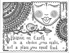 Free coloring page coloring-adult-proverb-about-heaven.