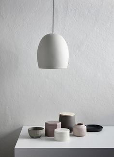 Grey Ceramic Pendant Light - All For Decoration Ceramic Light, Ceramic Pendant, Pendant Lamp, Pendant Lights, White Pendant Light, Minimalist Interior, Modern Interior, Interior Design, Minimalist Lifestyle