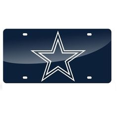 Dallas Cowboys Blue Mirror License Plate Laser Tag #RicoIndustries #DallasCowboys #JockUniversity