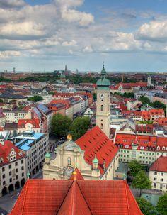 Munich Cityscape, Germany Photo by John Morgan