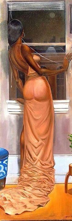 """Street Lights"" Frank Morrison ""But they can't touch My inner mystery. Black Love Art, Black Girl Art, My Black Is Beautiful, Art Girl, Arte Black, Black Art Pictures, Black Artwork, Afro Art, Dope Art"