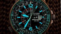 Citizen Men's Nighthawk Eco-Drive Watch BJ7000-52E, Design