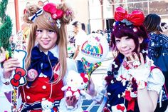 These awesome Harajuku Hello Kitty lovers. | 42 Amazing Things You Will Only See At Hello Kitty Con