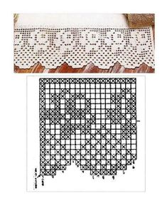 crochet hakel lace dentelle filet rose border