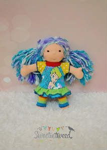 Fairy Rainbow Outfit for an 8 Inch Waldorf Doll #sweetietweed