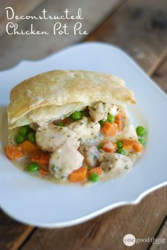 Once you try this quick & easy method for making this classic American comfort food, you'll never go back to your frozen food case for a chicken pot pie again!