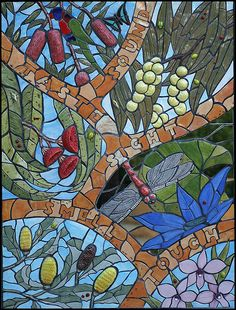 Australian mosaic wall