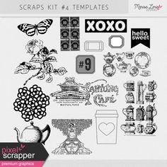 Scraps Kit #4 Templates