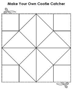 Make your own cootie catcher a.k.a fortune teller!