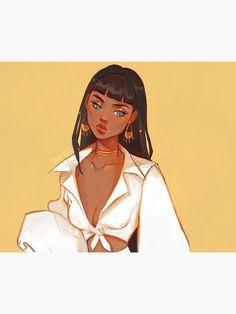 Black Girl Cartoon, Black Girl Art, Black Women Art, Cartoon Girl Drawing, Manga Drawing, Drawing Tips, Cute Art Styles, Cartoon Art Styles, Character Art