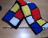 Lego Scarf Easy Crochet Pattern DIY - pinned by pin4etsy.com