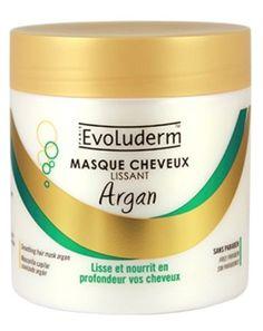 masque cheveux lissant argan evoluderm 500ml neuf