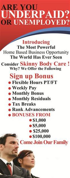 The Most Powerful Home Basrd Business Opportunity! http://SkinnyBodyCare24.SBCMovie.com