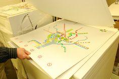 How the WMATA Rush+ Maps Are (Screen!!) Printed. Photo via MetroForward