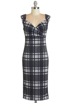 Lady Love Song Dress in Plaid, @ModCloth