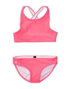Ralph Lauren Childrenswear Girls\u0027 Solid 2-Piece Swimsuit - Sizes ...