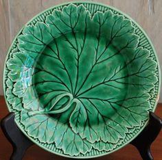 Antique English Wedgewood Majolica Leaf Plate